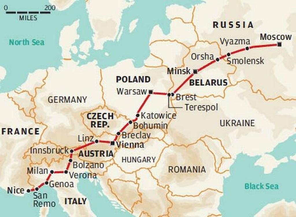 Raggiungere la Russia in treno, un viaggio lungo ma è possibile... da Nizza a Mosca senza cambi!
